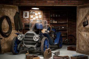 Tranh dán tường 3D xưởng sửa xe cổ