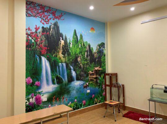 Tranh dán tường 3D bạn nên dán tường hay làm khung treo tường?