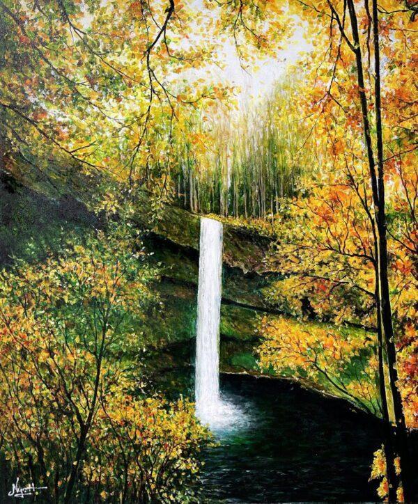 Thác South, Công viên Tiểu bang Thác Bạc, Oregon, Mỹ