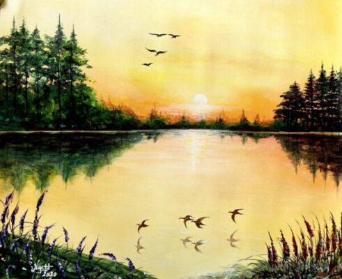 5 bức tranh phong cảnh đơn giản mà đẹp