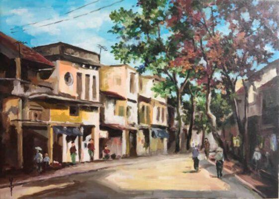 5 bức tranh phong cảnh làng quê đẹp nên thơ