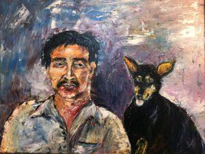Người đàn ông cơ khổ và con chó