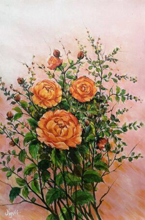 Hoa hồng cam - Niềm khát vọng và đam mê rực cháy