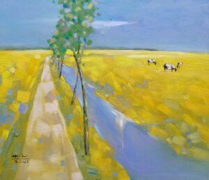 Trên cánh đồng quê