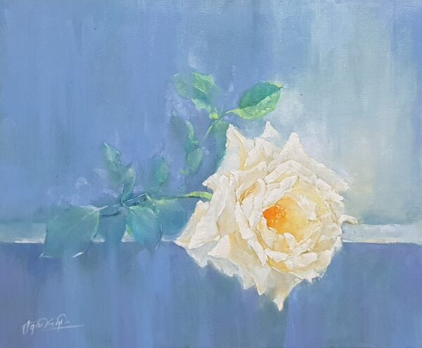Đóa hồng trắng