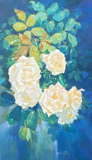 Nhành hoa trắng