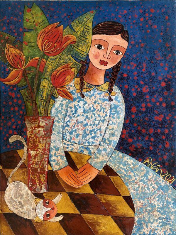 Cô bé váy hoa (3)