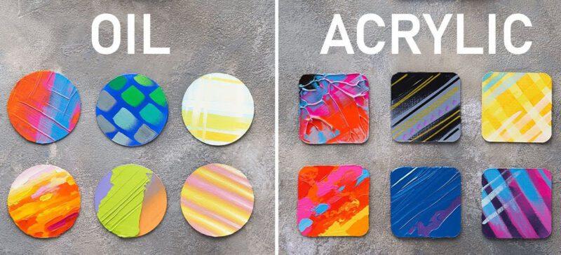 Sự khác nhau giữa sơn Acrylic và sơn Dầu